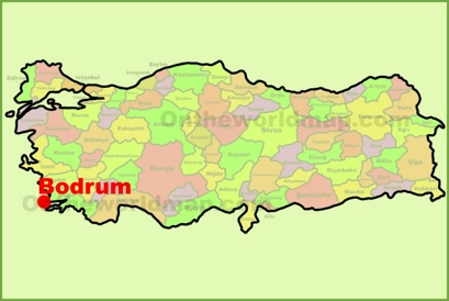 Bodrum Location Map