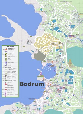 Bodrum sightseeing map