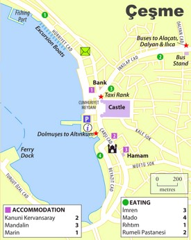 Çeşme city center map