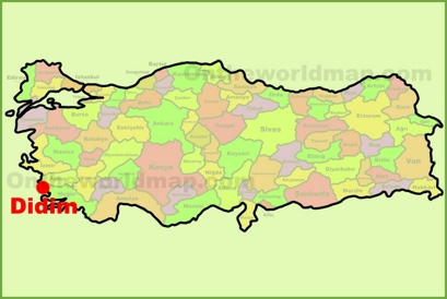 Didim Maps Turkey Maps of Didim