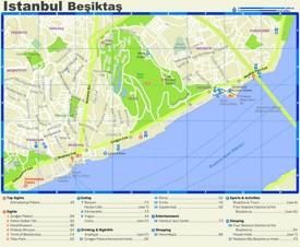 Beşiktaş tourist map