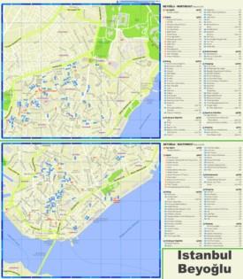 Beyoğlu tourist map