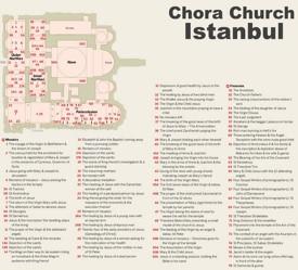 Istanbul Chora Church map
