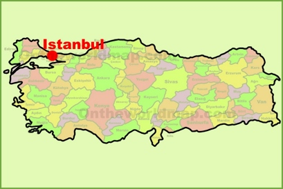 Istanbul Location Map