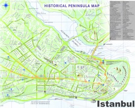 Istanbul old town map