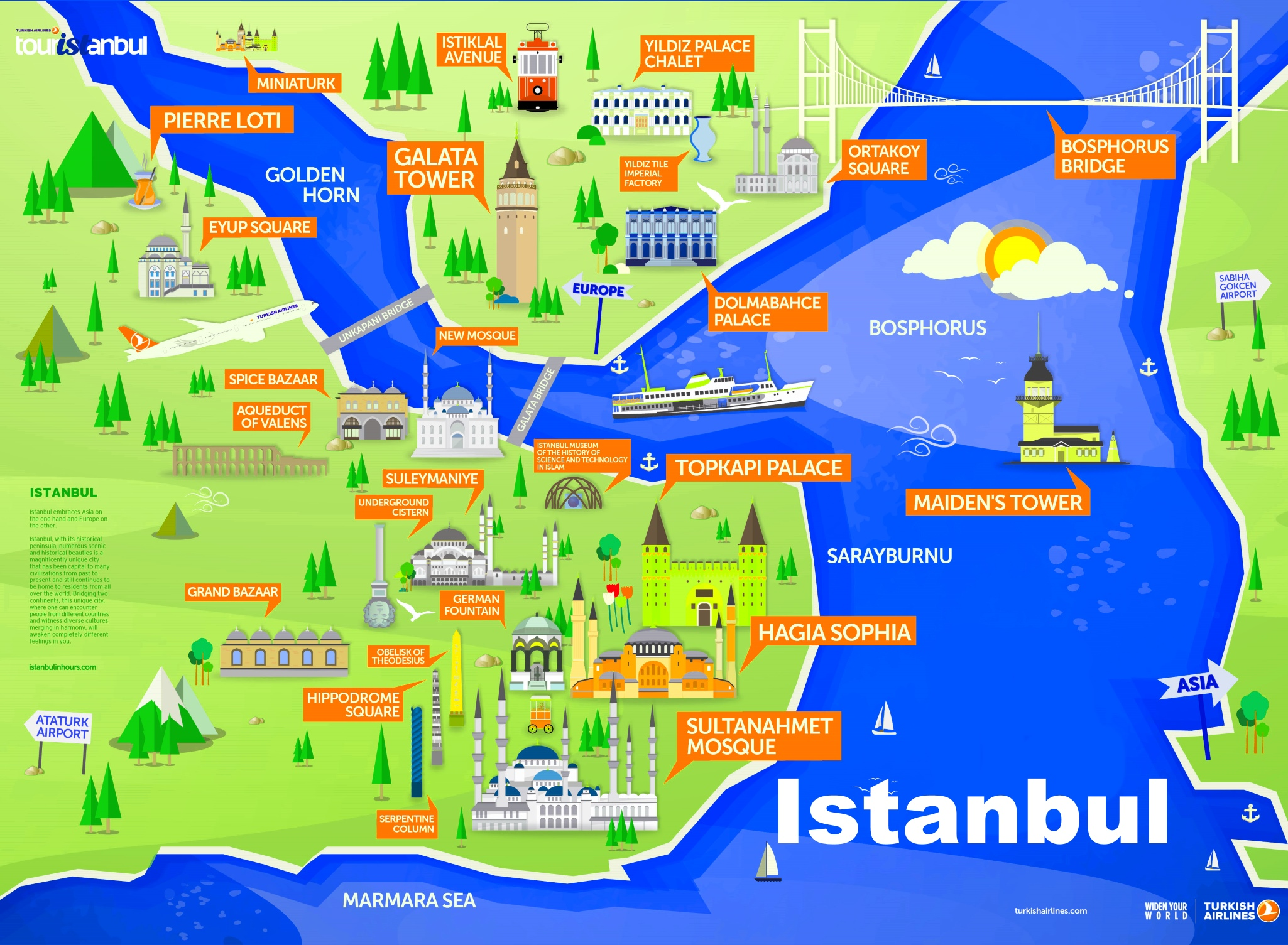 istanbul sightseeing map. istanbul maps  turkey  maps of istanbul