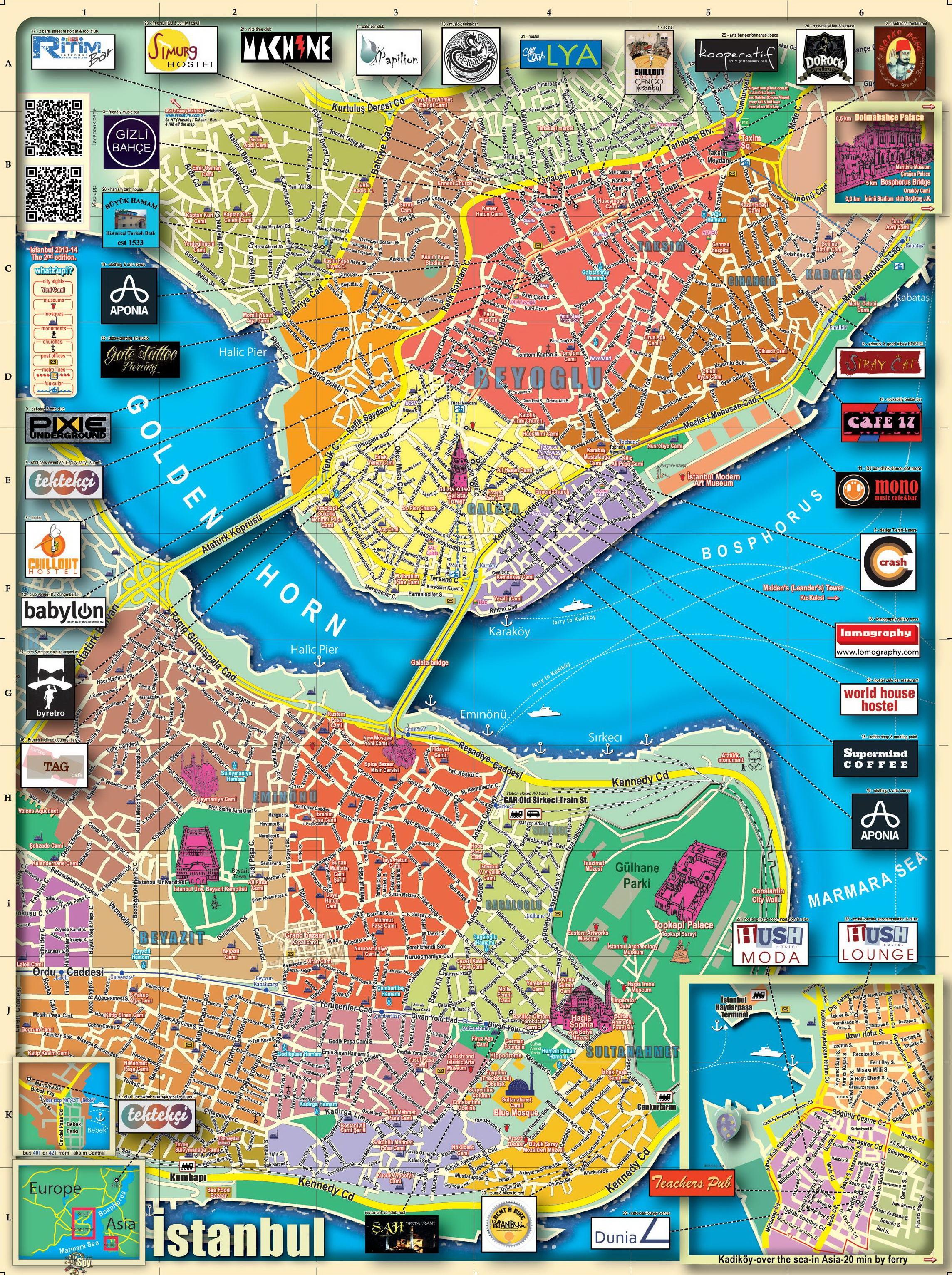 Istanbul Maps Turkey Maps of Istanbul