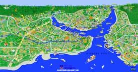 Istanbul tourist metro map