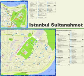 Sultanahmet tourist map