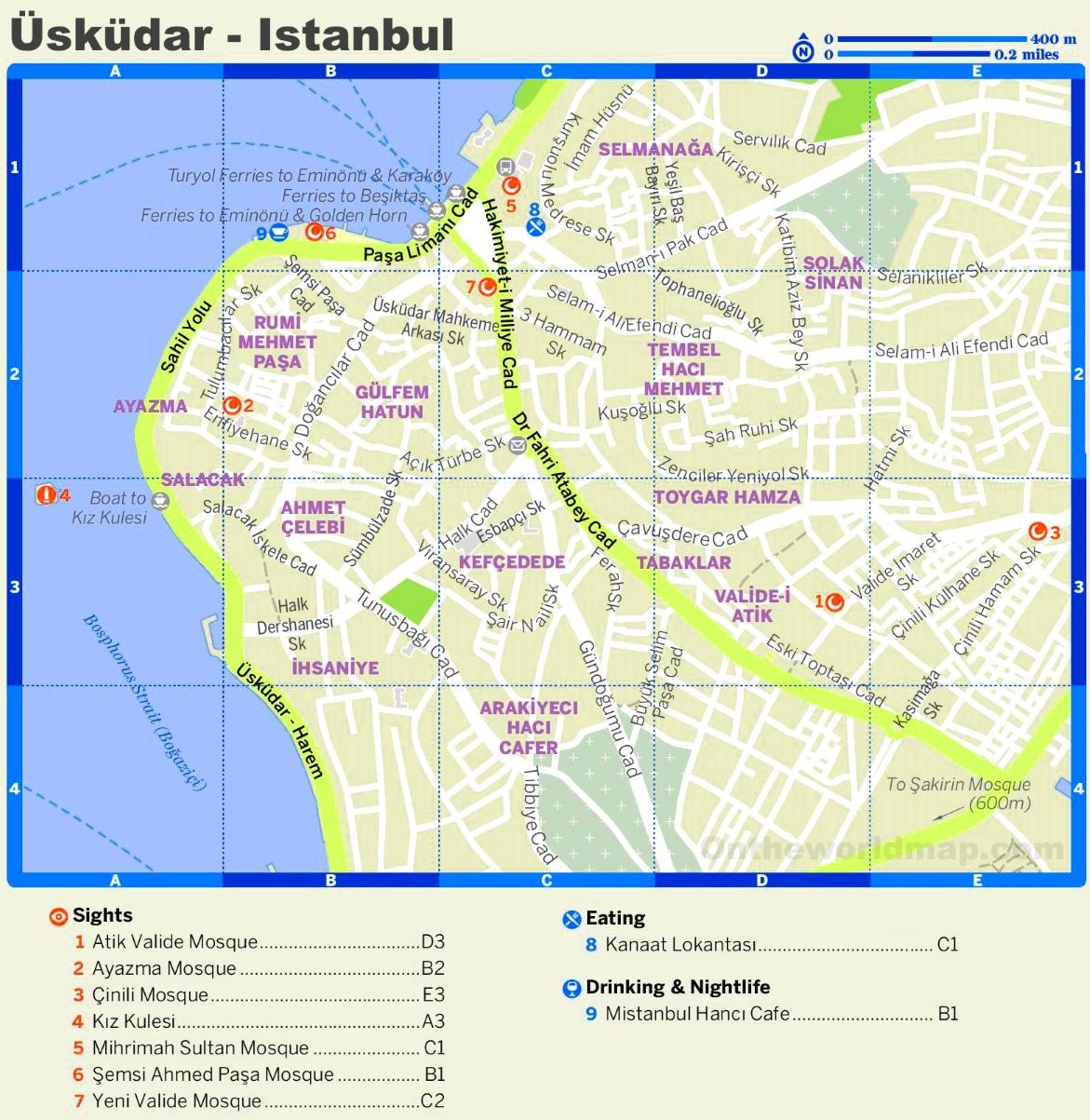 skdar tourist map