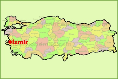 zmir Maps Turkey Maps of zmir