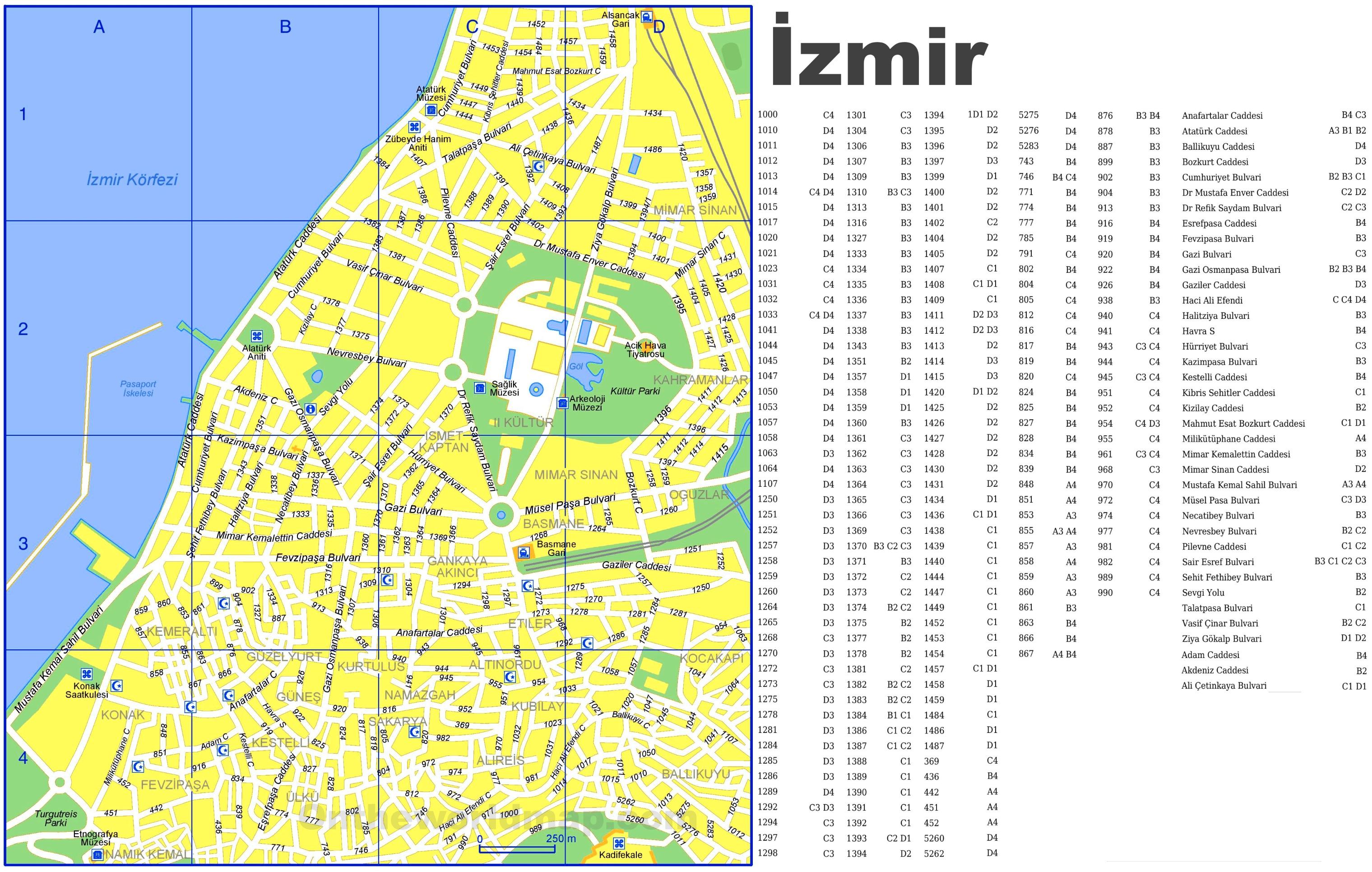 zmir Maps Turkey Maps of zmir
