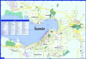 İzmir tourist map