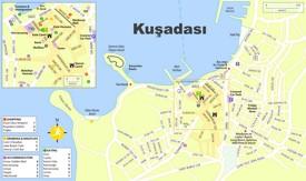 Kuşadası tourist map