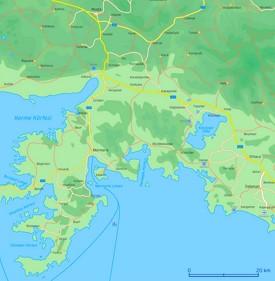 Map of surroundings of Marmaris
