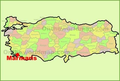 Marmaris Location Map