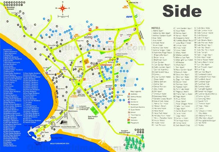 Side hotel map