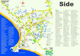 Side Maps Turkey Maps of Side