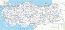 Large detailed map of Turkey with cities and towns