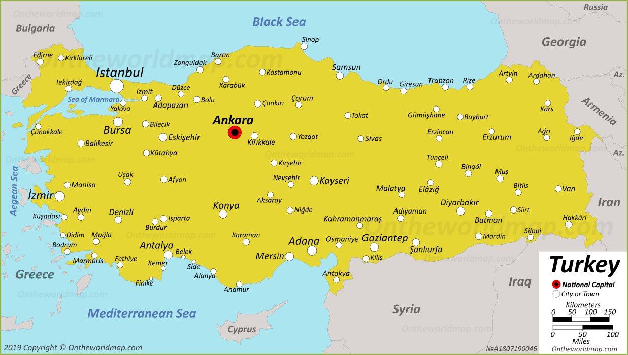 Turkey Maps | Maps of Turkey