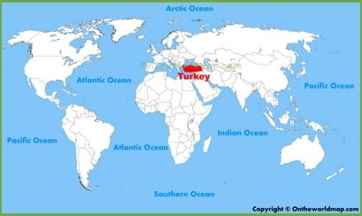 Turkey Location Map