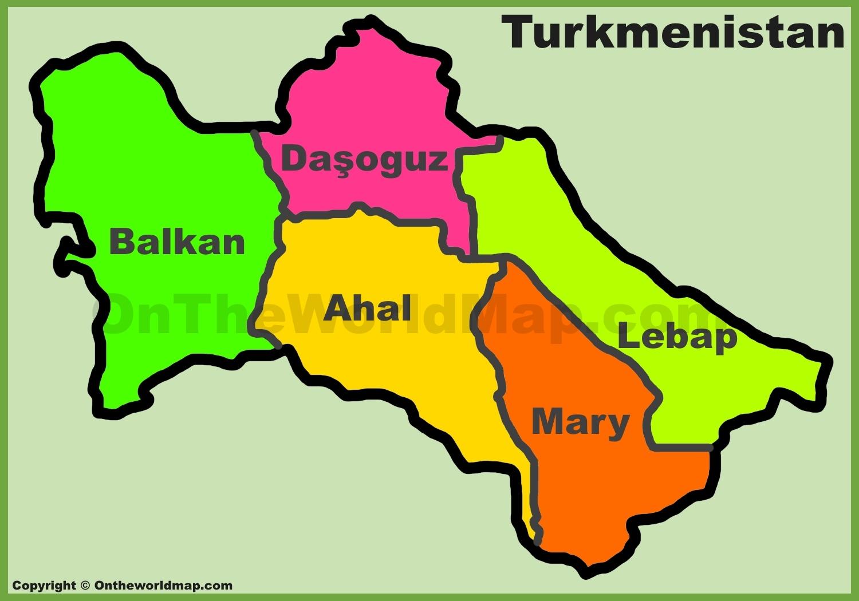 Turkmenistan Maps Maps of Turkmenistan