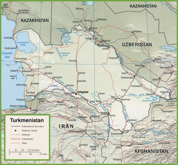 Turkmenistan road map