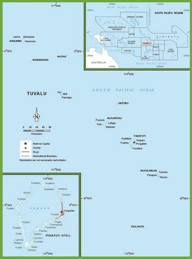 Large detailed map of Tuvalu