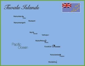 Tuvalu islands map