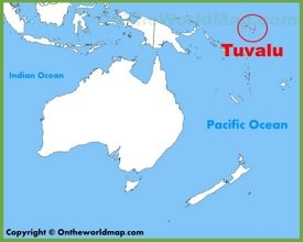 Tuvalu location on the Oceania map