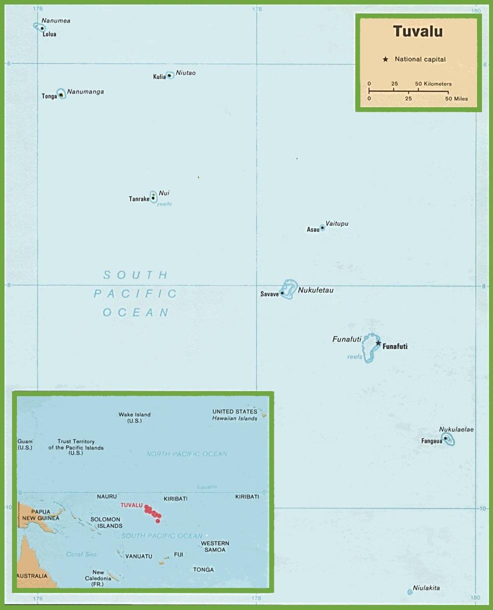 Tuvalu political map