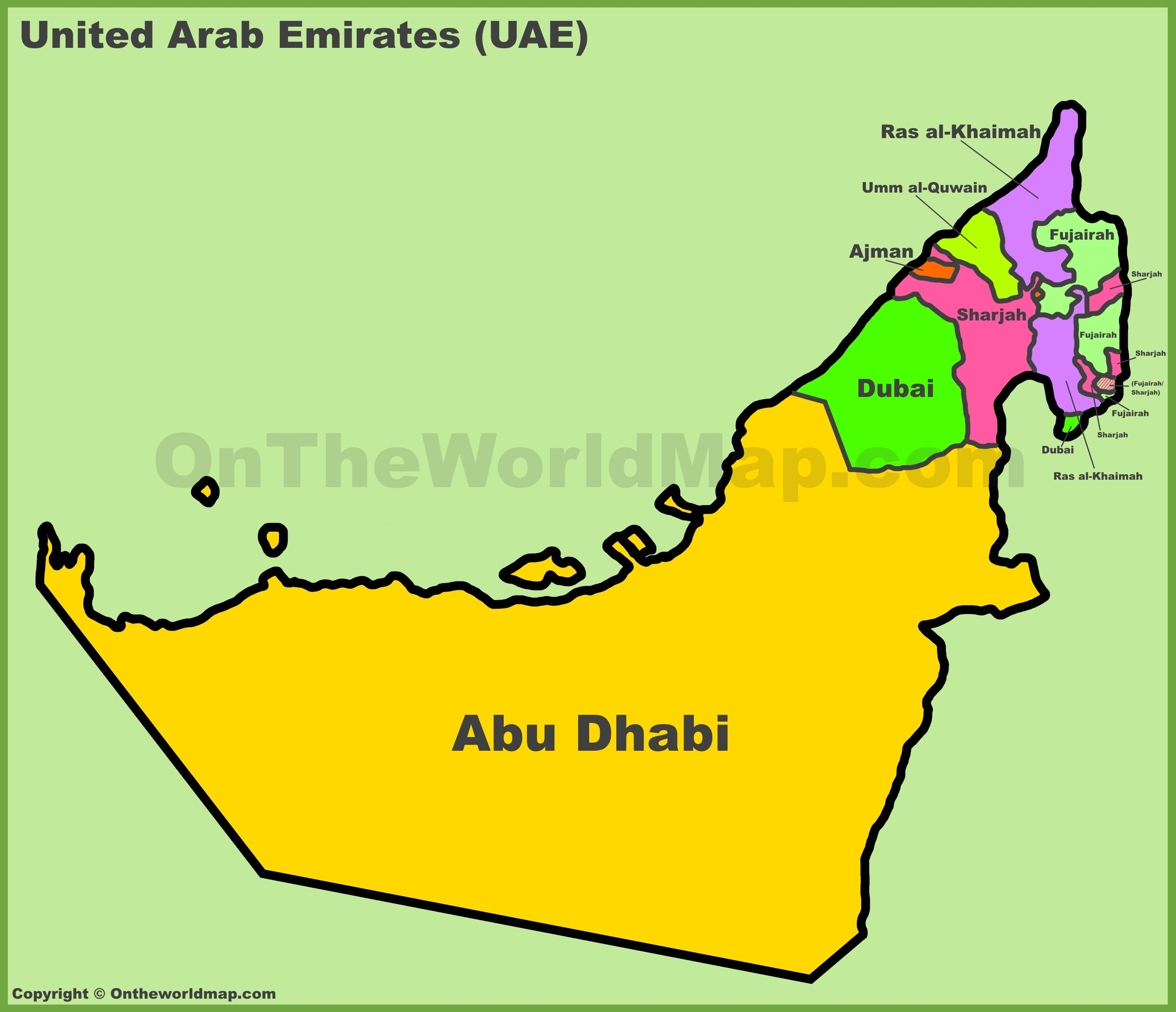 Map Of United Arab Emirates U.A.E S.St   Lessons   Tes Teach