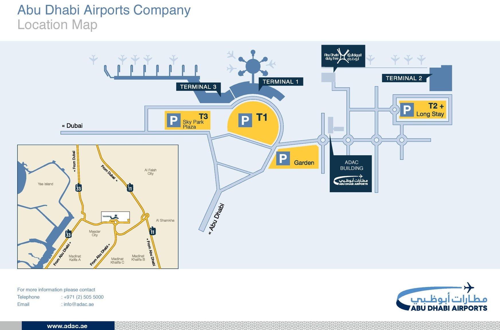 Abu Dhabi airport map