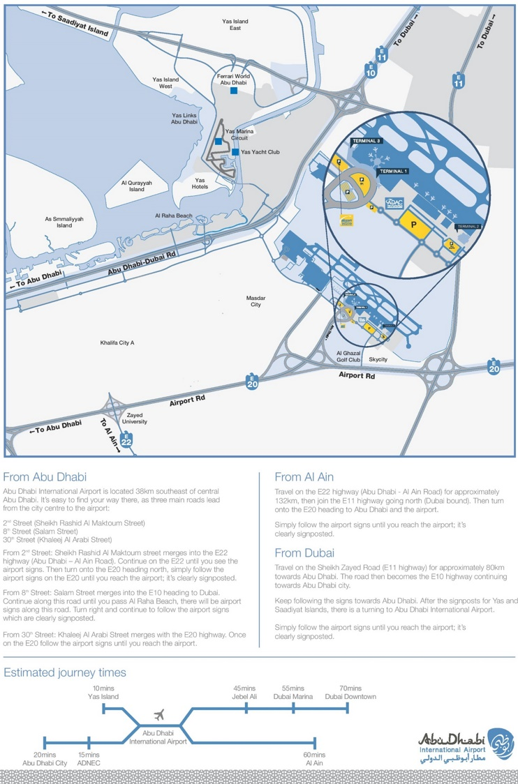 Abu Dhabi airport parking map