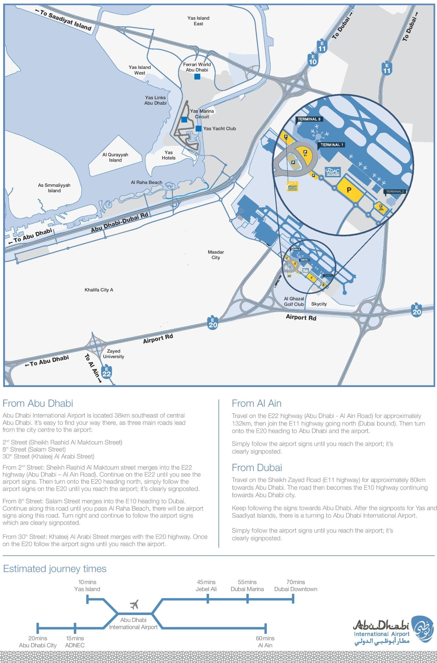 Abu Dhabi airport parking map