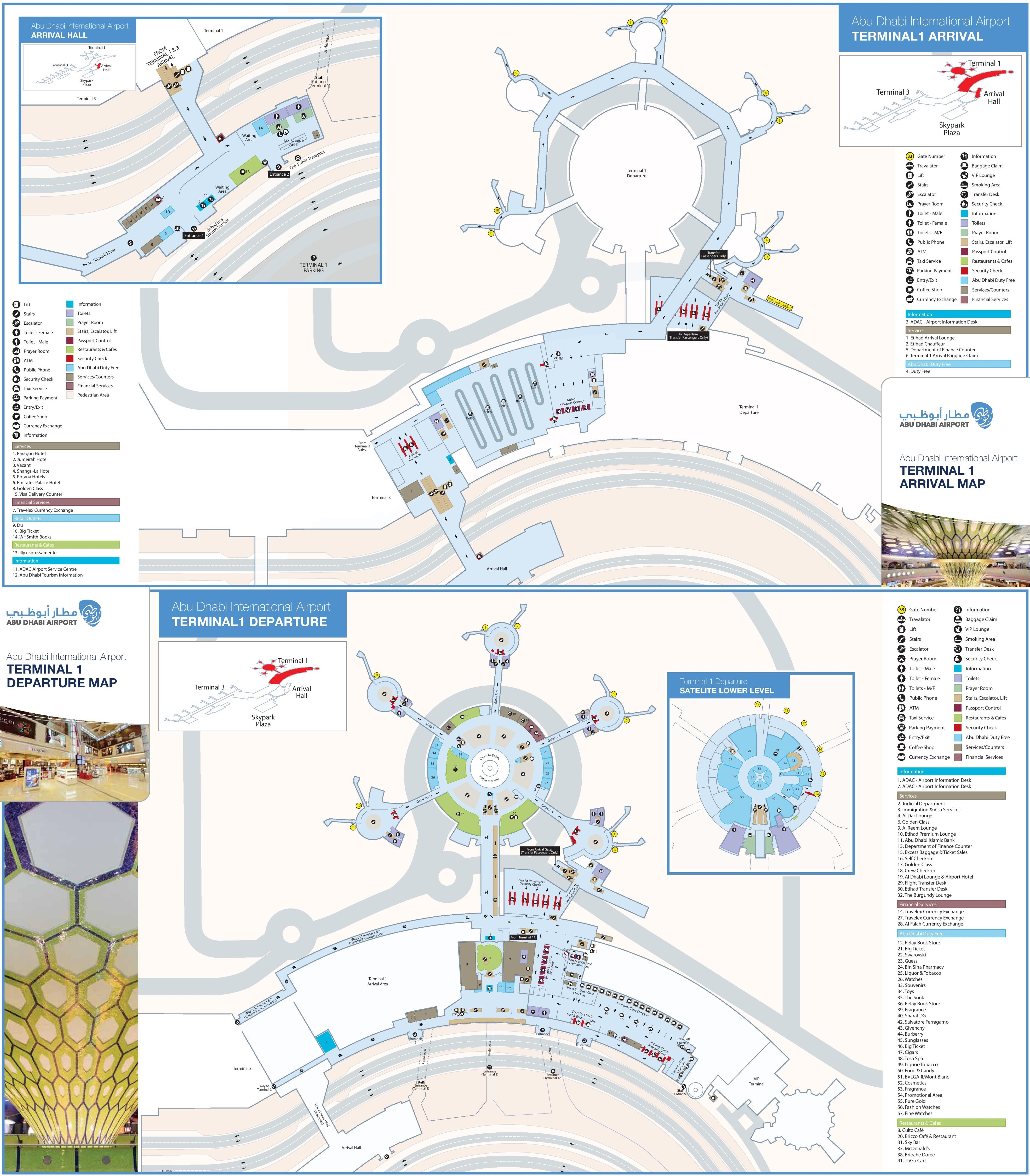 abu dhabi airport terminal 1 map