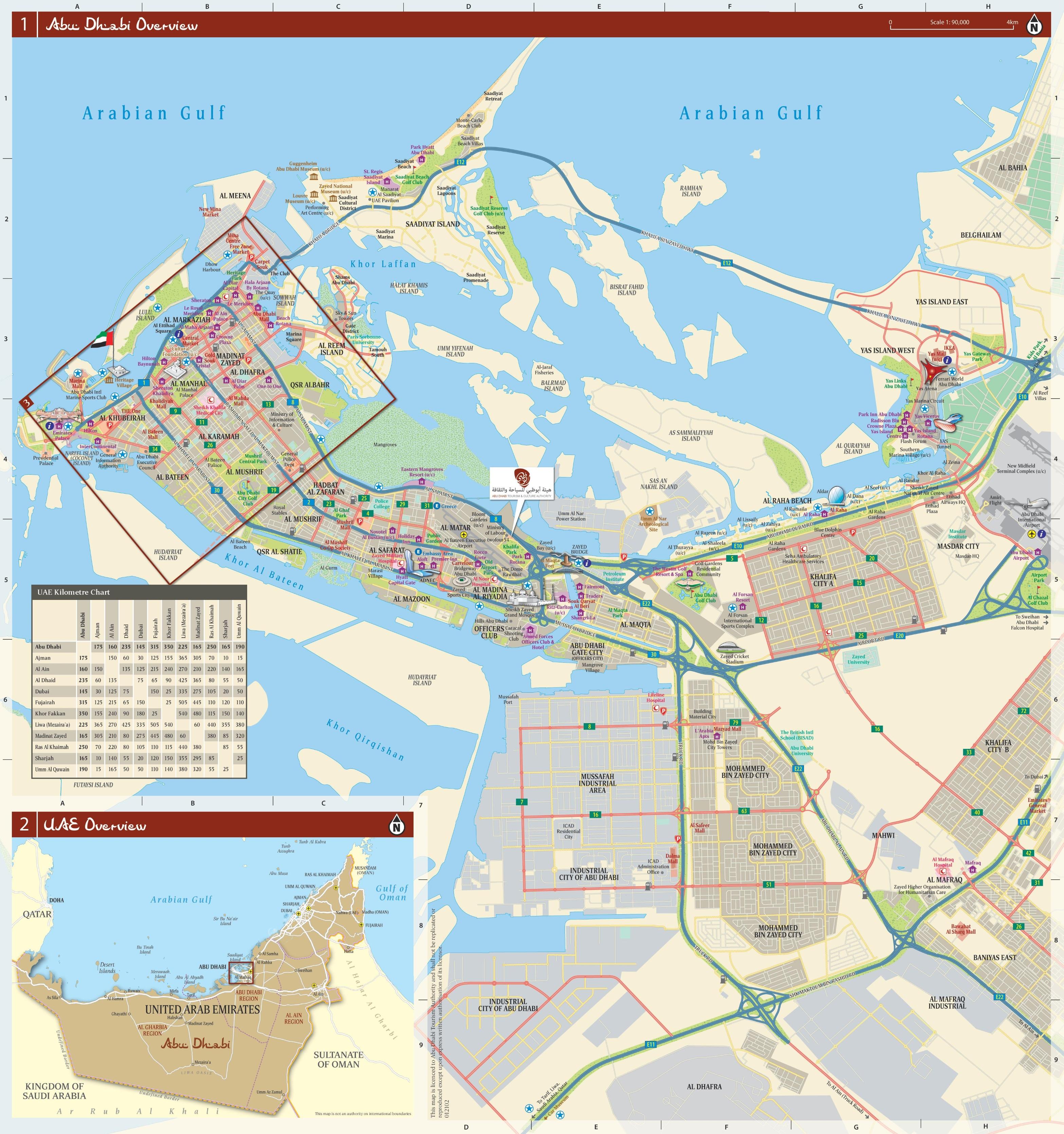 Map Of Abu Dhabi Abu Dhabi city map