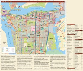Abu Dhabi hotels and sightseeings map