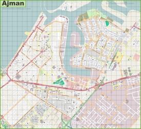 Ajman city map