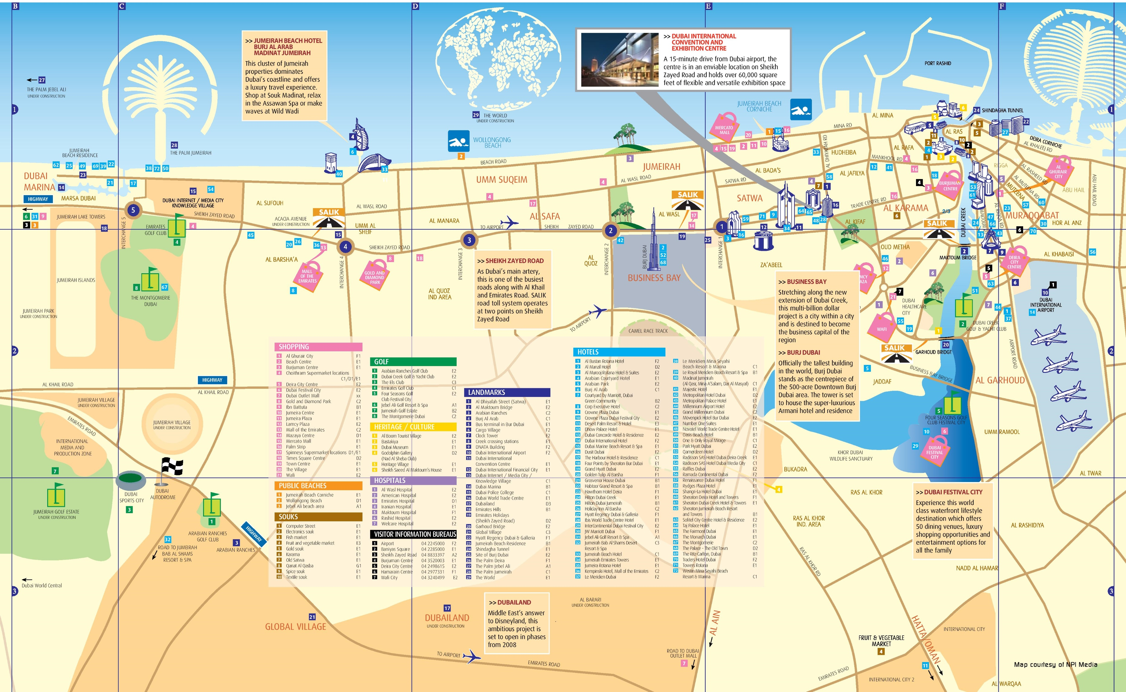 dubai hotel map
