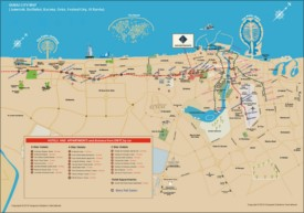 Dubai hotels and appartments map
