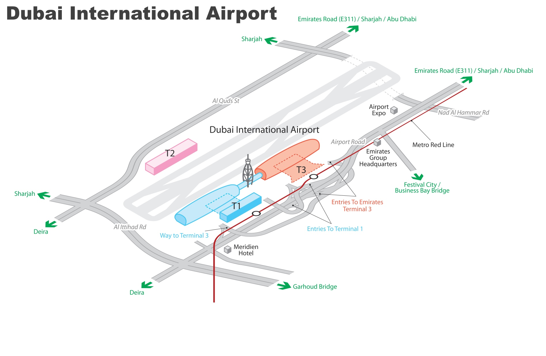 Dxb Airport Map Dubai International Airport map (DXB) Dxb Airport Map