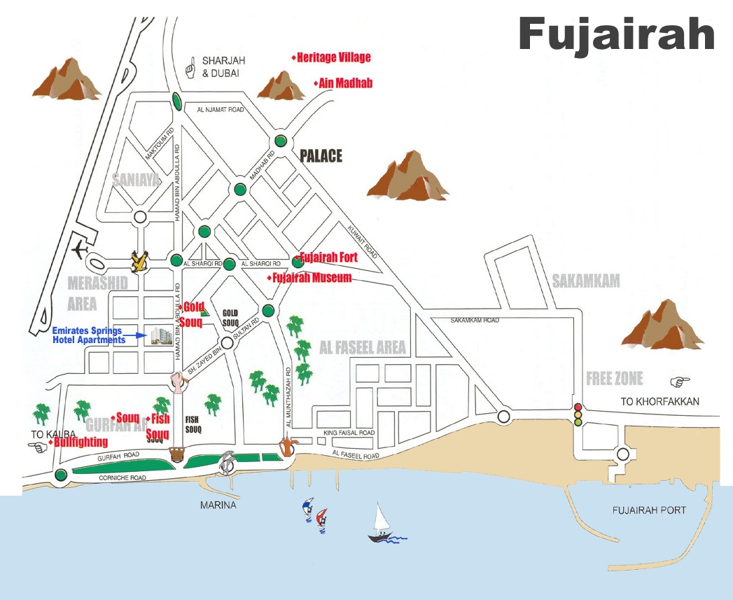 Fujairah tourist map