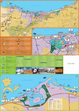 Ras al-Khaimah hotels and tourist attractions map