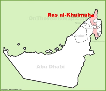 Ras al-Khaimah Location Map