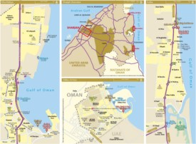 Emirate of Sharjah map