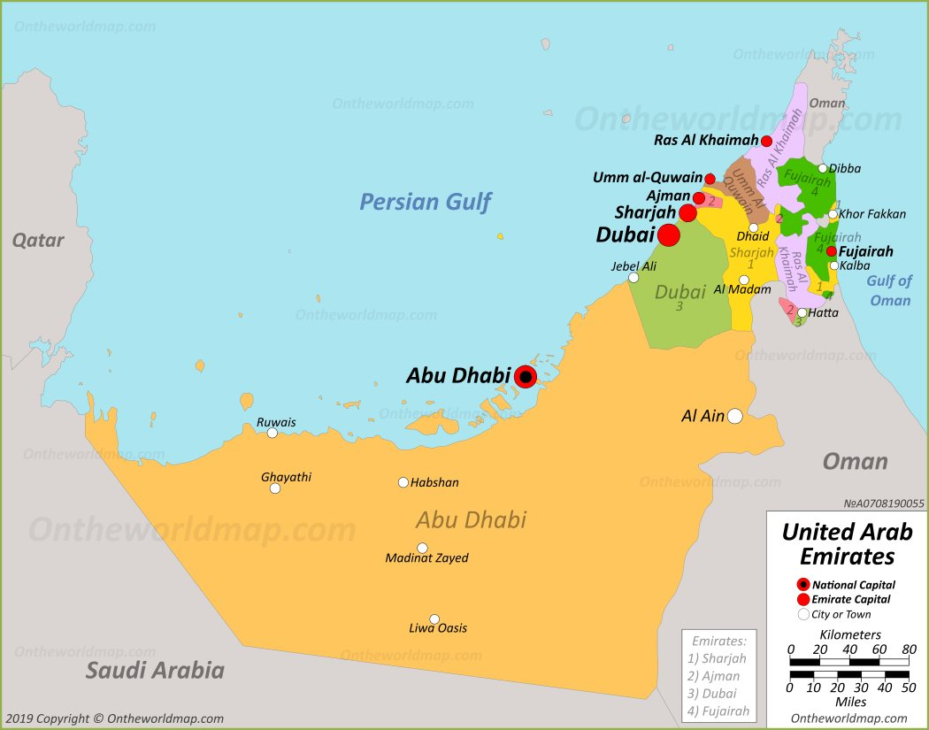 United Arab Emirates Maps | Maps of UAE (United Arab Emirates) on