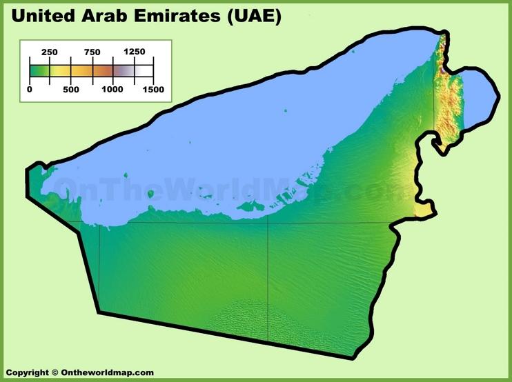 UAE physical map