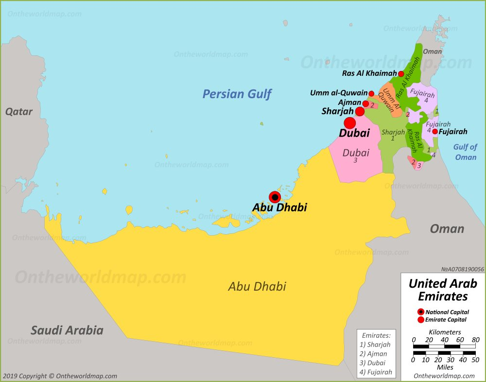UAE political map