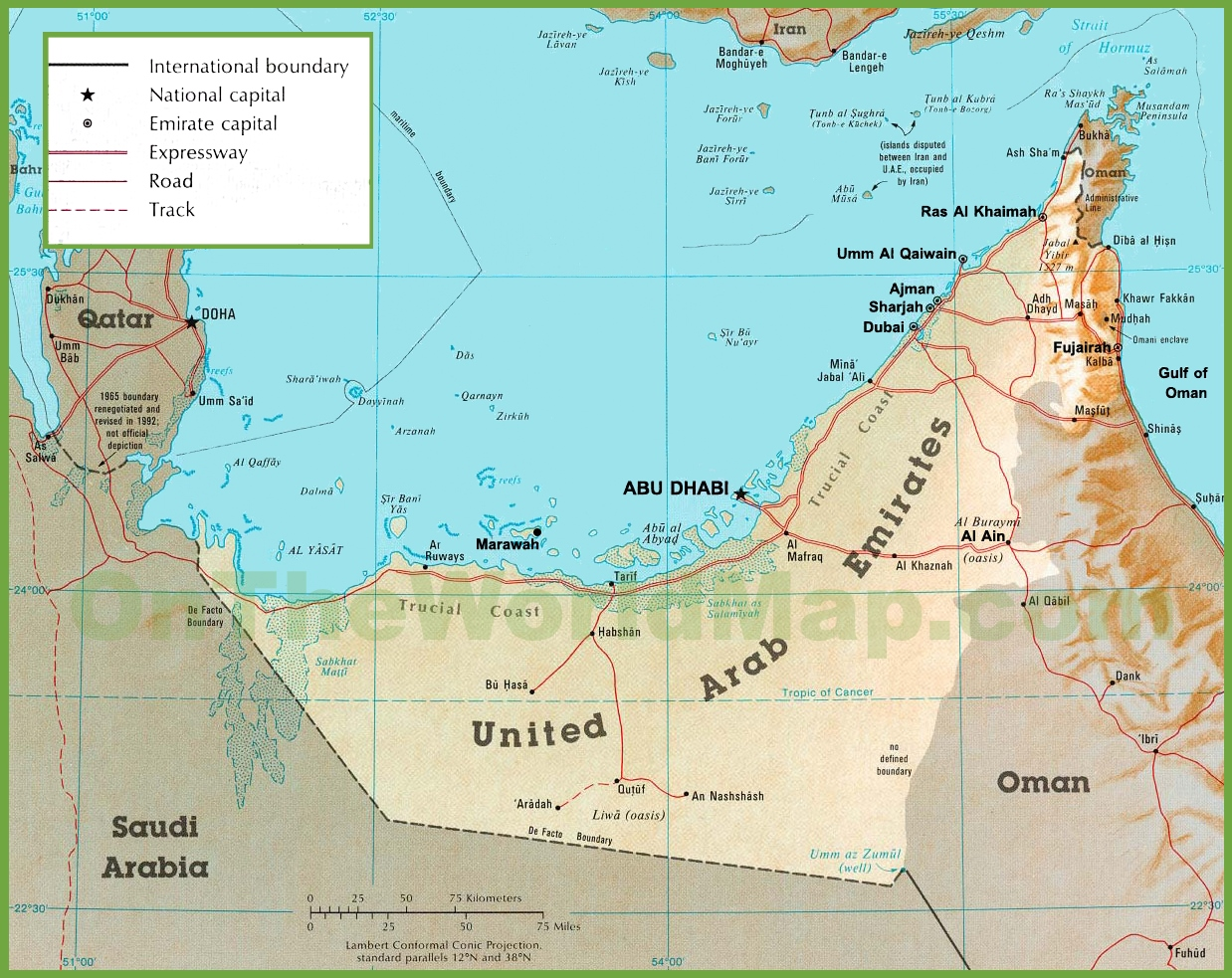 United Arab Emirates Maps Maps Of UAE United Arab Emirates - United arab emirates map